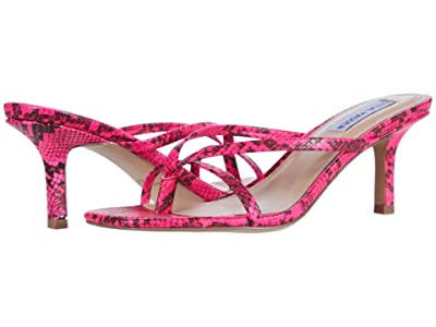 Steve Madden Lolla Heeled Sandal (Pink Multi Snake) Women