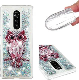 9a25153101b HopMore Glitter Funda para Sony Xperia XZ4 Silicona 3D Liquido Brillante  Purpurina Transparente Dibujos Carcasa TPU