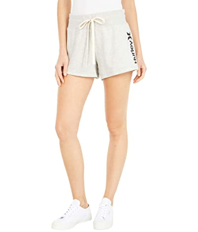 Hurley One and Only Fleece Shorts (Grey Heather) Women