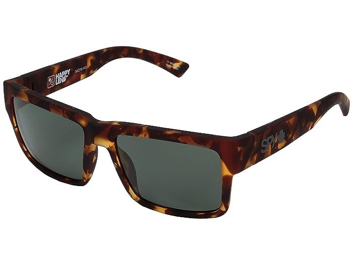Spy Optic Montana (Soft Matte Camo Tort/Happy Gray/Green) Plastic Frame Sport Sunglasses