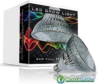 LED Grow Light - 54W Full Spectrum Bulb + UV & IR