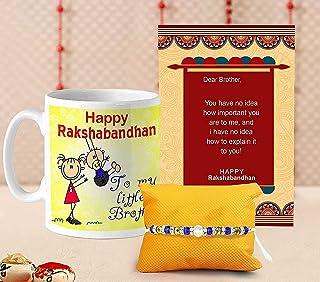 TIED RIBBONS Raksha Bandhan Rakhi for Brother - Designer Rakhi Coffee Mug with Wishes Card