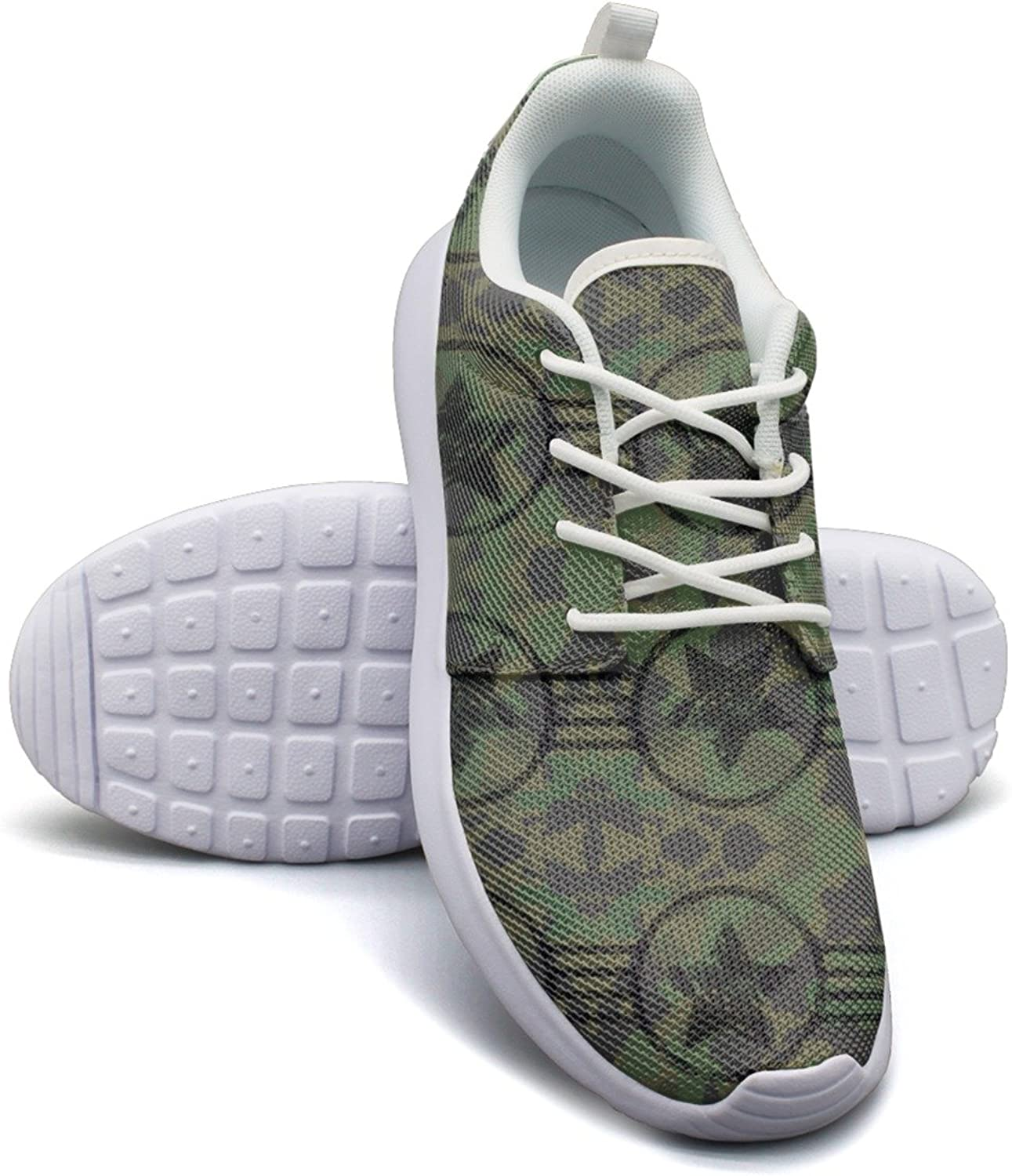 Military American Camouflage Flag Women's Lightweight Mesh Basketball Sneakers Hunting Running shoes