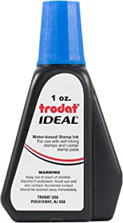 Trodat/Ideal 45175 premium replacement ink - Blue - 1 ounce bottle