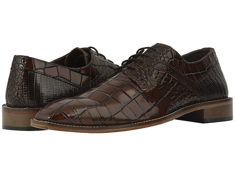 Stacy Adams Triolo Croc Lizard Print Oxford (Cognac/Brown) Men
