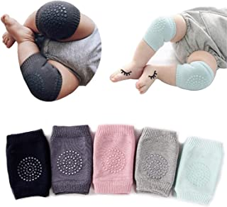 5 Pairs Baby Crawling Anti-Slip Knee Pads, Baby Toddlers Kneepads Baby Leg Warmers