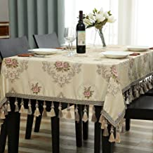 Cloth Tablecloths,Desktop decoration European style Waterproof Oil-proof Multi-purpose Cover towel Lace Party Kitchen-C 110x170cm(43x67inch)