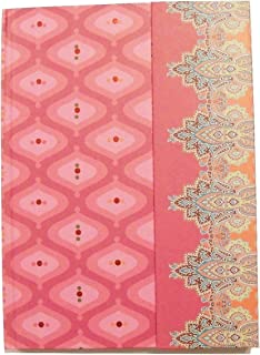 Carolina Pad Studio C Journal with Magnetic Closure and Foil Embellishments ~ Taj Mahal (Pinks and More; 6.25