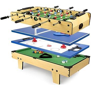 Leomark Mesa Multifuncional Multijuegos Futbolin Mesa de Juego 4 ...