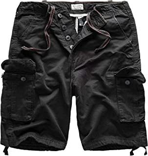 Surplus Men`s cargo Vintage Shorts Washed Bermuda , Size L, Color black
