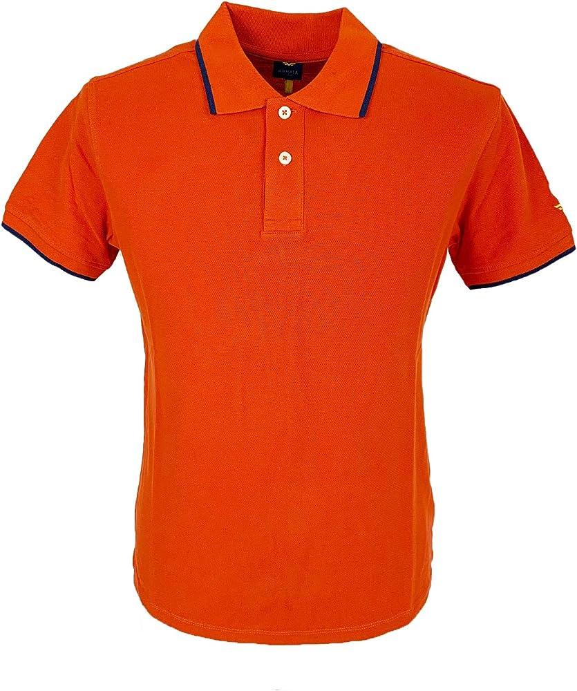 Armata di mare polo, maglietta a manica corta , 100 % cotone, ARANCIONE 5352994B
