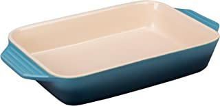 Le Creuset Stoneware Rectangular Dish, 12.5 by 8.25-Inch, Marine