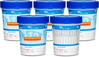 10 Pack - 12 Panel Cups with TCA - AMP, BAR, BUP, BZO, COC, MDMA, MET (MaMP), MTD, OPI, OXY, TCA, THC - CLIA WAIVED/FDA Approved
