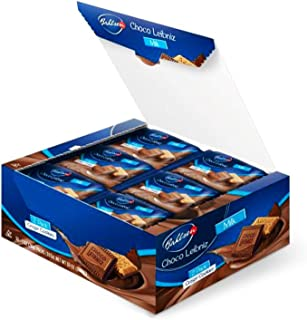 Bahlsen Choco Leibniz Milk Cookies (30 Single Serve) - Leibniz Butter Biscuits topped with a thick layer of European Chocolate - 1 oz Single Serving Packets (2 cookies)