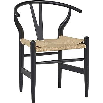 Brand 22.4 W White//Natural Stone /& Beam Classic Wishbone Dining Chair
