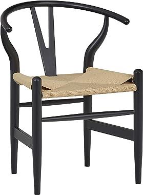"Amazon Brand – Stone & Beam River Mid-Century Dining Chair, 29.1""H, Black"