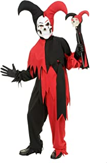 California Costumes Sinister Jester Costume, One Color, 12-14