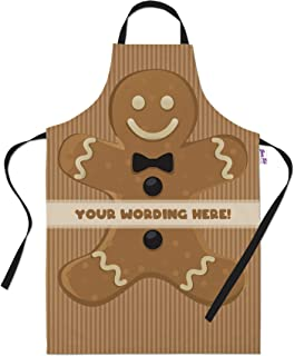 Bang Tidy Clothing Personalized Baking Aprons for Women Men - Cooking Chef Apron - Gingerbread Man