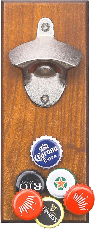 Abridor de Botellas de Pared, 1 Pieza Abrebotellas de Magnético,Regalos de Cerveza para Hombres, Utilizados para Abrir Bebidas, Muy Adecuados para Refrigeradores de Cocina, Terrazas, Jardines
