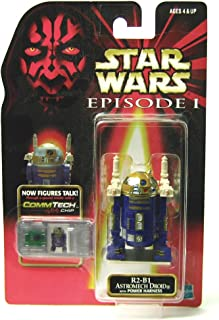 Star Wars Episode I Commtech Chip R2-b1 Astromech Droid with Power Harness Collectible Figure