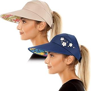 Sun Visor Hats for Women Wide Brim Sun Hat UV Protection Caps Floppy Beach Packable Visor
