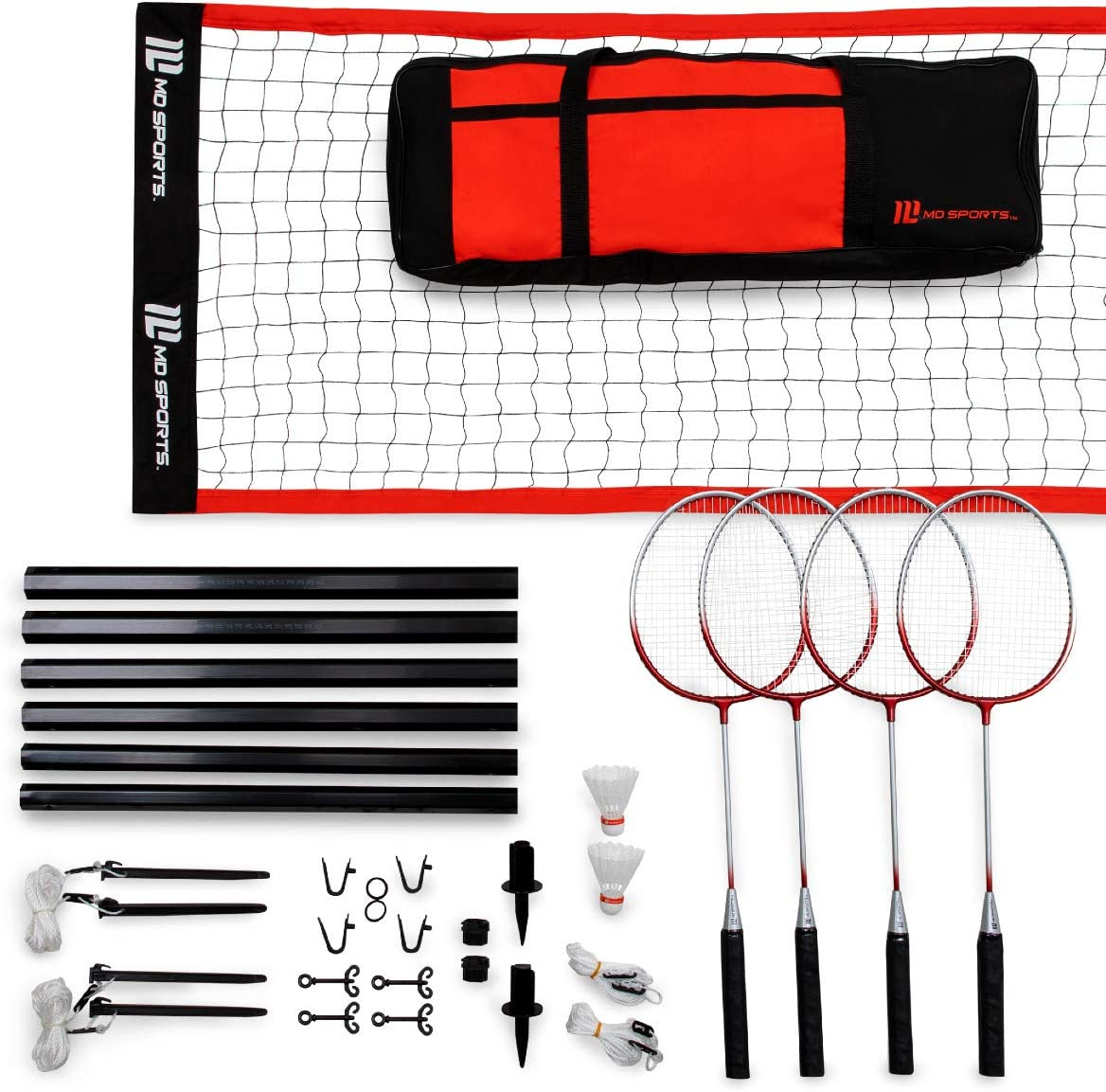 MD Sports Advanced Badminton Set with Incl Heavy Bag Carry Duty Large special price Outstanding