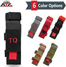 ATG Tactical Tourniquet & Trauma Medical Shear Pouch MOLLE PALS Duty Belt Loop EMT EMS PVC Rubber Patch