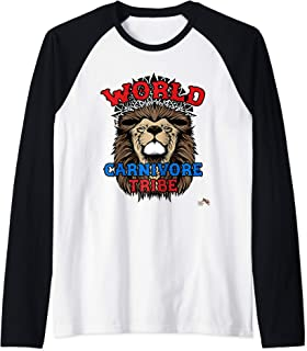World Carnivore Tribe Lion Raglan Baseball Tee
