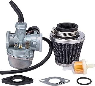 Hity Motor 19mm Hand Choke pz19 Carburetor for 50cc 70cc 80cc 90cc 110cc 125cc Dirt Pit Bike Taotao Honda CRF with 35MM Air Filter Fuel Filter Clamp Ring Adjusting Shims and Rubber Ring