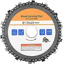 Disco de cadena de amoladora angular de 4.5 pulgadas / 5 pulgadas, amoladora angular de 115/125 mm, disco de tallado de madera de cadena de corte de madera, utilizado para tallar y pulir madera