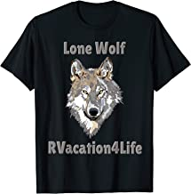 RVacation4life, allaboutthet RV camping lone wolf shirt