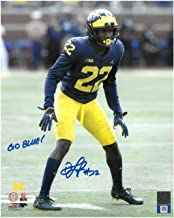 DAVID LONG, JR. AUTOGRAPHED MICHIGAN WOLVERINES 8X10 WITH