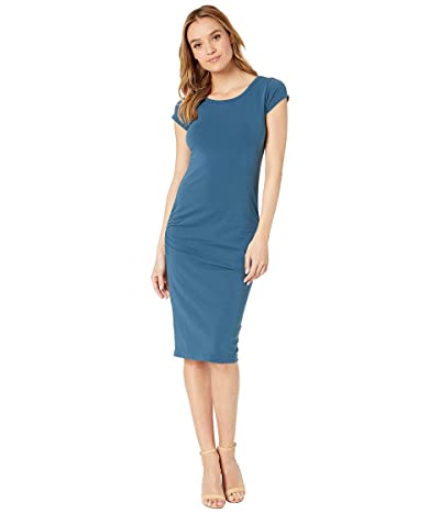 Hard Tail Sexy Ruched Cap Sleeve Dress (River) Women