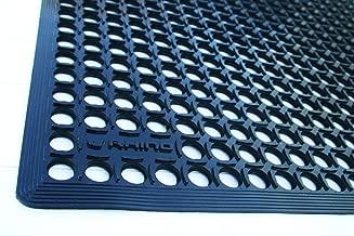 Rhino Mats KCT-310B K-Series Comfort Tract Anti-Fatigue Drain-Thru Mat, 3' x 10', Black