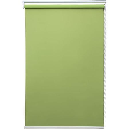 BOBOTOGOロールスクリーン グリーン 遮光 幅30cmX丈180cm 遮光1級 遮熱 防音間仕切りチェーン式 既成品