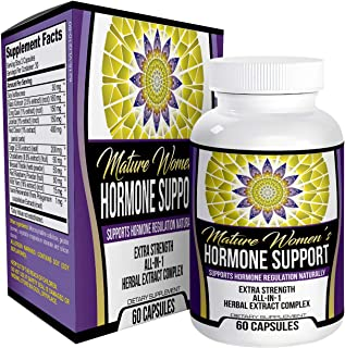 Women's Hormone Support Supplement for Menopause and Perimenopause - Natural Herbal Extract Relief Formula - 60 Capsules