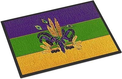 """Caroline's Treasures Mardi Gras Mask Indoor or Outdoor Doormat, Multicolor, 24"""" x 36"""""""