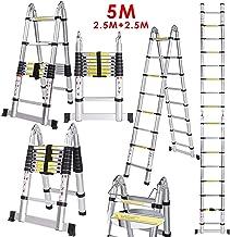 Wolketon /Échelle t/élescopique en aluminium avec /échelle pliante et multiusage 2.6m
