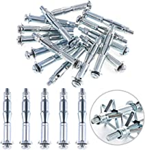 Glarks 30Pcs 6x65MM Heavy Duty Zinc Plated Steel Molly Bolt Hollow Drive Wall Anchor Screws Set for Drywall, Plaster and Tile (M6x65)