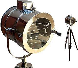 Lámpara de pie náutica hogar decorativo diseño vintage trípode iluminación reflector punto luz
