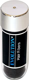 Evolution Hair Fibers -100% Human Hair Fibers - Deluxe 38g Black - For Men & Women - Conceal Thinning Hair in Seconds!