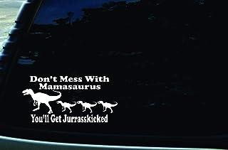 149mmx88mm JDM Sticker // Decal Dinosaur Eating Jesus Fish Evolve Decal Car Sticker INDIGOS UG black Die cut