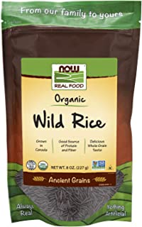 NOW Foods, Organic Wild Rice, Gluten-Free and Certified Non-GMO, Ancient Grains, 8-Ounce