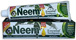 Essential Palace (Pack of 6) Organic Neem (Mint) Herbal Whitening Toothpaste - Refreshing - with Black Seed, Neem Extract,...