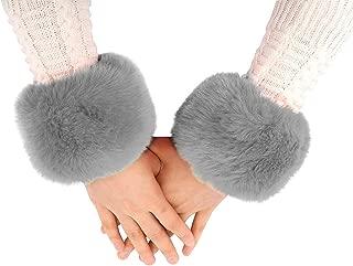 Women's Fur Wrist Warmer Sexy Furry Fuzzy Wrist Cuffs Cover Arm Warmer