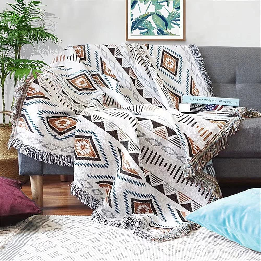 Homesy Soft Southwest Throw Blankets Double Sided Aztec Southwest Throws Cover Multi-Function for Couch Chair Sofa Bed Outdoor Beach Travel 51