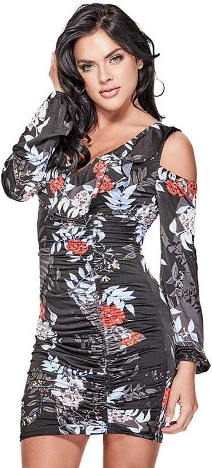 GUESS Women's Ruched ColdShoulder Bodycon Dress
