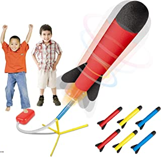 Play22 Toy Rocket Launcher - Jump Rocket Set Includes 6 Rockets - Play Rocket Soars Up to 100 Feet - Missile Launcher Best Gift for Boys and Girls - Air Rocket Great for Outdoor Play - Original