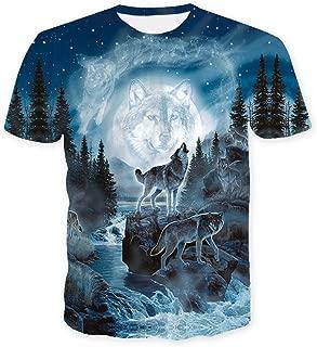 Fashion Mens 3D Digital Printed Design Pattern T-Shirts Top Tees
