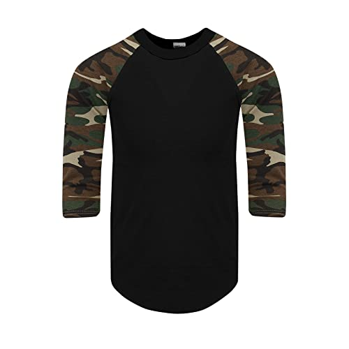 5ddda95fe16 Shaka Wear Mens Baseball T Shirts Raglan 3 4 Sleeves Tee Cotton Jersey S-
